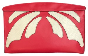 Barbara Milano Calfskin Red Clutch