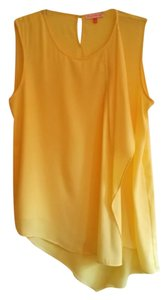 English Laundry Draped Work Casual Top Yellow