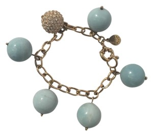 J.Crew Marble Ball and Crystal Charm Bracelet