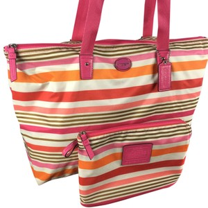 Coach Pink Multi Travel Bag