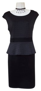 AA Studio Peplum Polka Dot Black Grey Dress