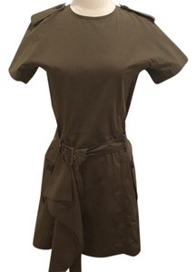 Salvatore Ferragamo short dress Khaki green on Tradesy