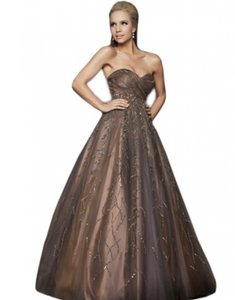 Mac Duggal Couture Taupe 1197 Dress