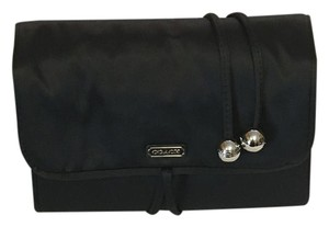 Coach Coach Satin Jewelry Roll / Wrap / Travel Case in Black