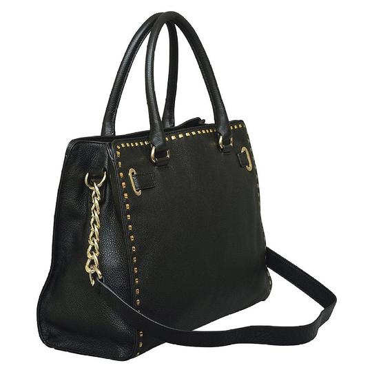 a764bba10a53 ... Michael Kors Mk Large Hamilton Pebbled Leather Purse Mk Purse Mk  Hamilton Whipped Tote in Black