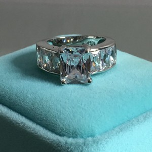 4ct gold filled princess cut CZ engagement ring