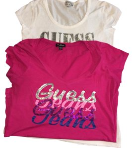 Guess Top Pink/ white
