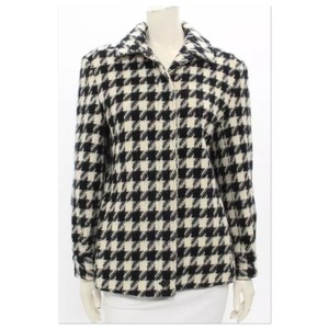 Pendleton Houndstooth Jacket Pea Coat