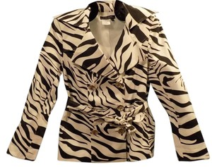 City Girl by Nancy Bolen Animal Print Classic Sateen Pea Coat