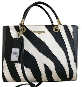 Karl Lagerfeld Satchel in Black and white