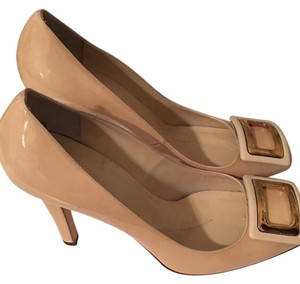 Kate Spade Nude with gold buckles Pumps