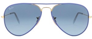 Ray-Ban NEW RAY-BAN ( RB3025) AVIATOR BLUE DESIGNER SUNGLASSES, MADE IN ITALY