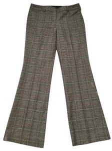 Express Boot Cut Pants brown plaid