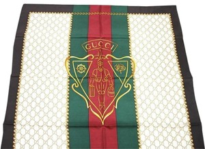 Gucci New Silk Scarf w/Hysteria Crest, Brown/Beige w/GRG Web 327371 2075