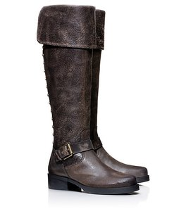 Tory Burch Overtheknee Brown distressed Boots