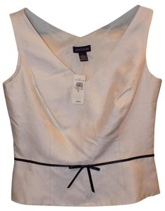 Ann Taylor Classic Hollywood Shell Top White