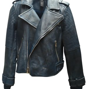 Marc Jacobs Blue Leather Jacket