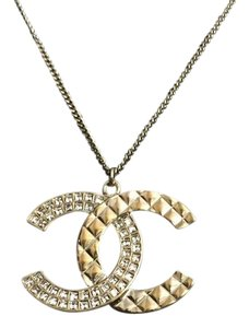 Chanel 17c Necklace Golden Crystal
