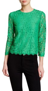 Diane von Furstenberg Dvf Lace Brielle Top GREEN