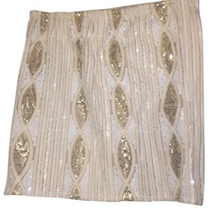 Myan Mini Skirt White and Gold