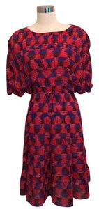 Tucker short dress Red Print Silk Party Cocktail on Tradesy
