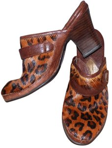 Børn Leather Animal Print Casual Multi-Colored Mules