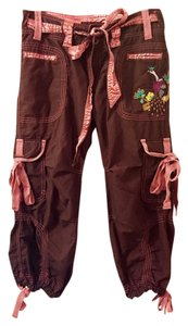 Miss Me Cargo Pants Brown, pink