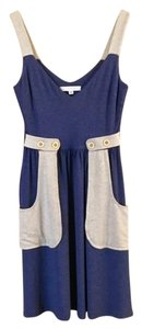 Corey Lynn Calter short dress Blue Two-tone Embellished A-line V-neck Sleeveless on Tradesy