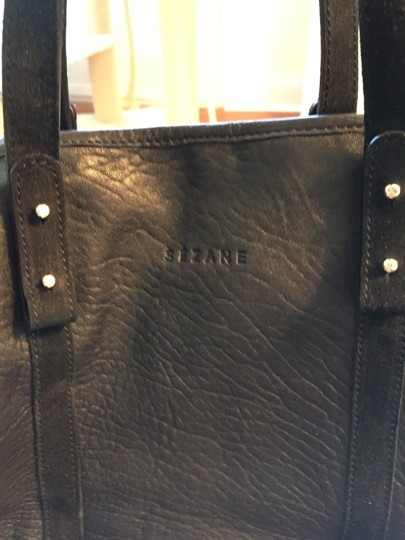 Sézane Lambskin Satchel in Black