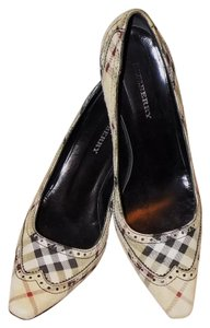 Burberry Leather Classic Signature Plaid Suede Multi Pumps