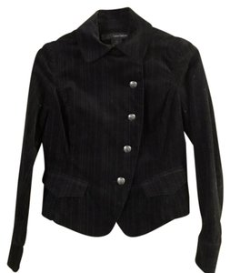 Calvin Klein Military Structured Cropped Black Jacket