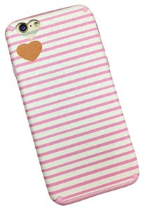 Lack Iphone 6s Pink & White Striped Phone Case