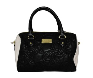 Betsey Johnson Satchel in Black/Cream