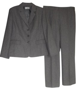 Le Suit Le Suit New Womens Gray Three-Button Jacket Pant Suit 16 $200