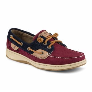 Sperry Maroon/Navy/Tan Flats