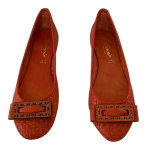 Other Sophisticated Design Woven Upper Padded Footbed Made In Italy Arancio Flats