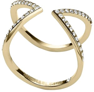 Michael Kors NWT Collection Open Arrow Ring Gold MKJ37497106 SIZE 6