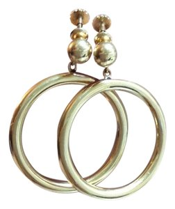 Other Vintage 14K Gold 11 Grams Screw Backs Dangle Hoop Earrings