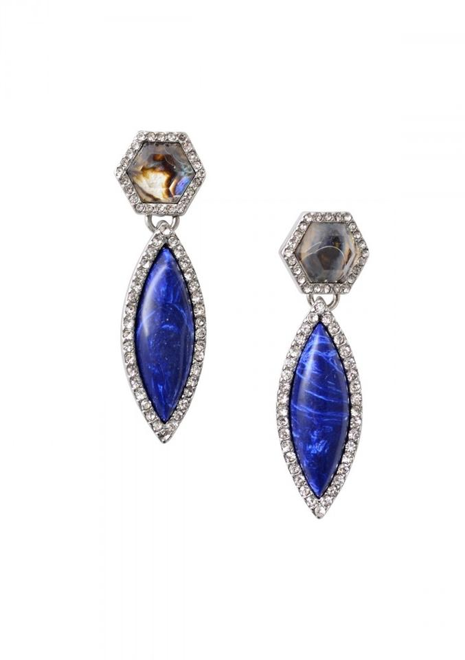 listing bridal stone il blue drop sapphire earrings