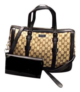 Gucci Monogram Boston Style Like New Shoulder Bag