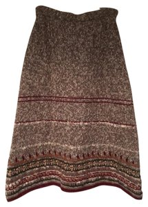 Anthropologie Bohemian Nordic Arctic Warm Maxi Skirt Neutral