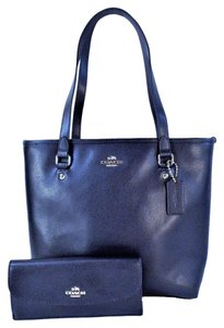 Coach Wallet Tote in Midnight Blue