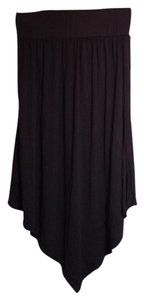 Rue 21 Asymmetrical Hi Lo High Low Maxi Skirt Black