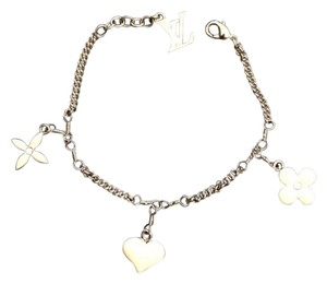 Louis Vuitton Louis Vuitton White Enamel Monogram Charm Bracelet