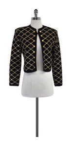 St. John Black Gold Open Front Jacket