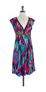 Nanette Lepore short dress Absract Print Silk Embelllished on Tradesy