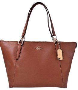 Coach Crossgrain Leather Tote in Saddle Brown