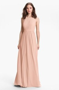 Jenny Yoo Blush Vivienne Pleated Chiffon Gown Dress