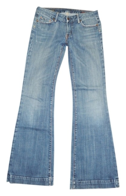 Item - Light Faded Blue Wash Faye #003 Style #003-001 Flare Leg Jeans Size 27 (4, S)