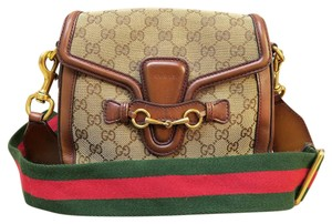 Gucci Lady Web Gg Canvas Cross Body Bag